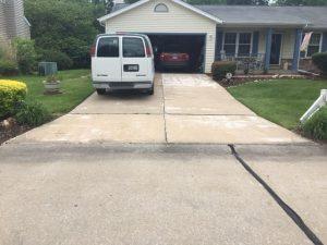 Hanson driveway before