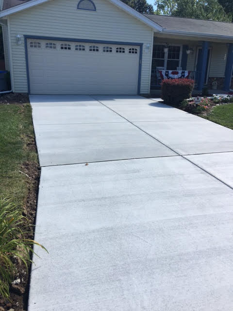 Hanson driveway after